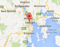 Greater Hobart Service Area Map